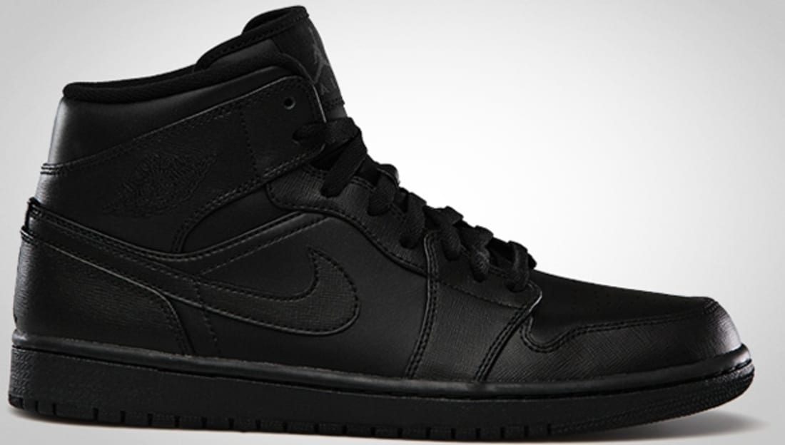 detailed pictures 2a133 d0a20 Air Jordan 1 Mid Black Black