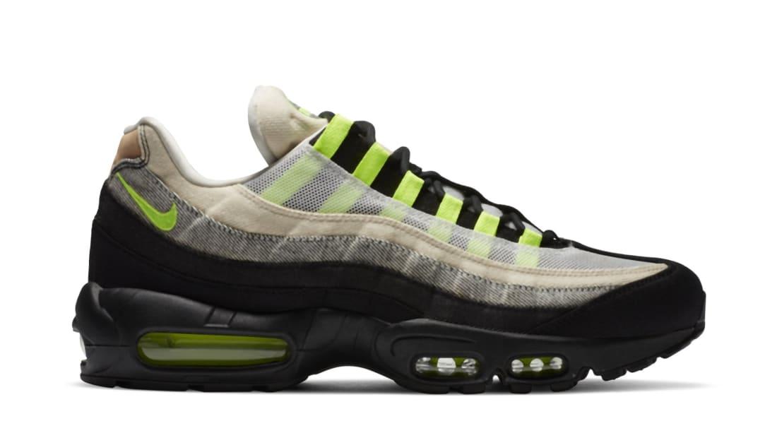 Denham x Nike Air Max 95 Black/Summit White/Volt | Nike | Sole ...