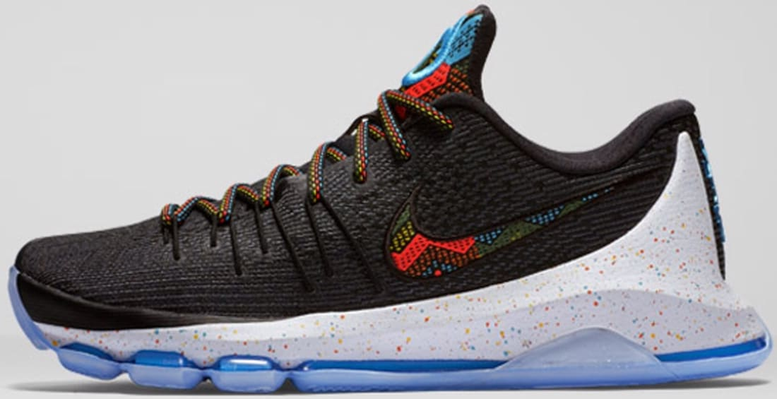 8381e018dc0f Nike KD 8 BHM Black Multi-Color