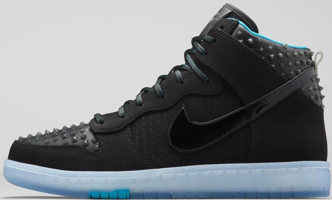 Nike Dunk High CMFT Premium AS QS Black/Black-Hyper Jade