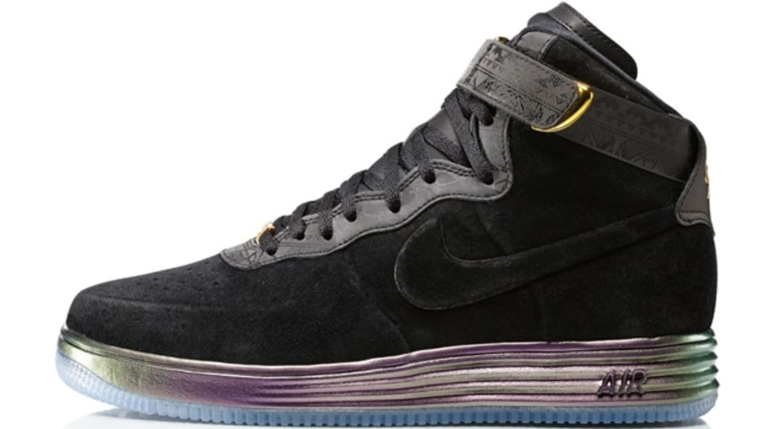 Nike Lunar Force 1 Lux Hi BHM Black/Black-Metallic Gold