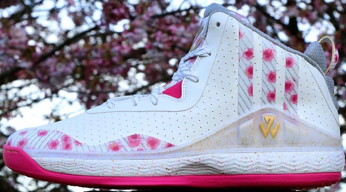 adidas J Wall 1 White/Gold Metallic-Pink