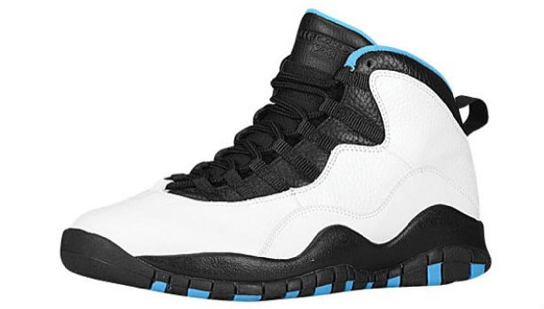 Air Jordan 10 Retro White/Dark Powder Blue-Black