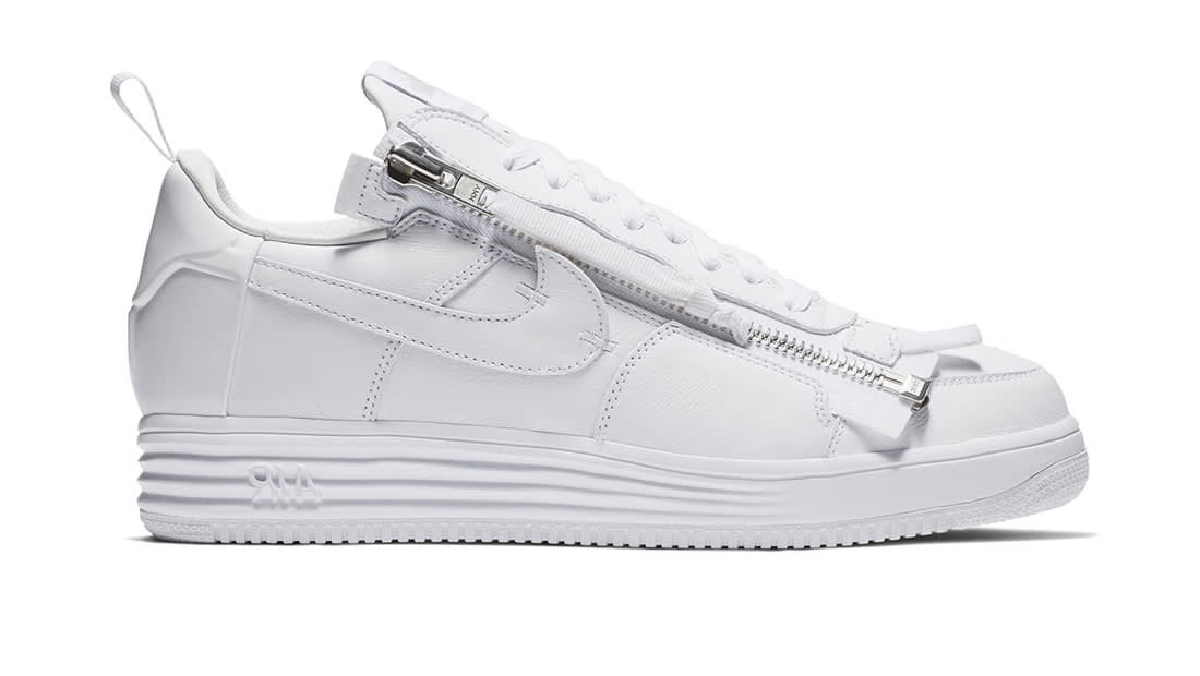 Nike Lunar Force 1 NikeLab X Acronym Men's Basketball Shoes,Original Sneakers Men's Air Force 1 Shoes,All White Color AJ6247 100 in Basketball Shoes