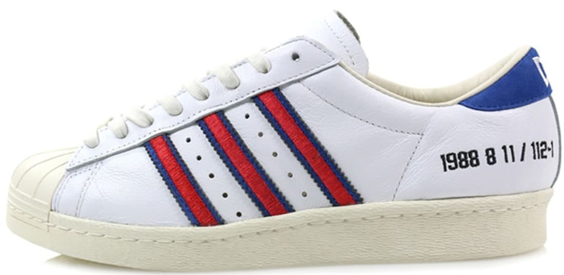 adidas Consortium Superstar White/Red-Blue