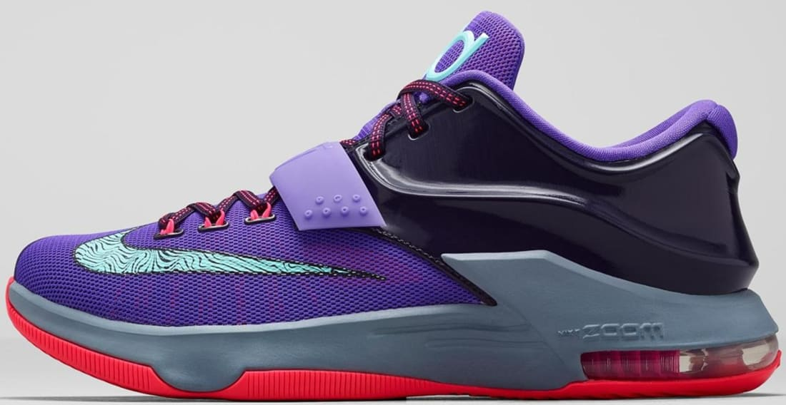 buy popular cab0d 3e582 Nike · Nike KD · Nike KD 7 (VII). Nike KD VII Cave Purple Hyper Grape-Magnet  Grey-Bleached Turquoise
