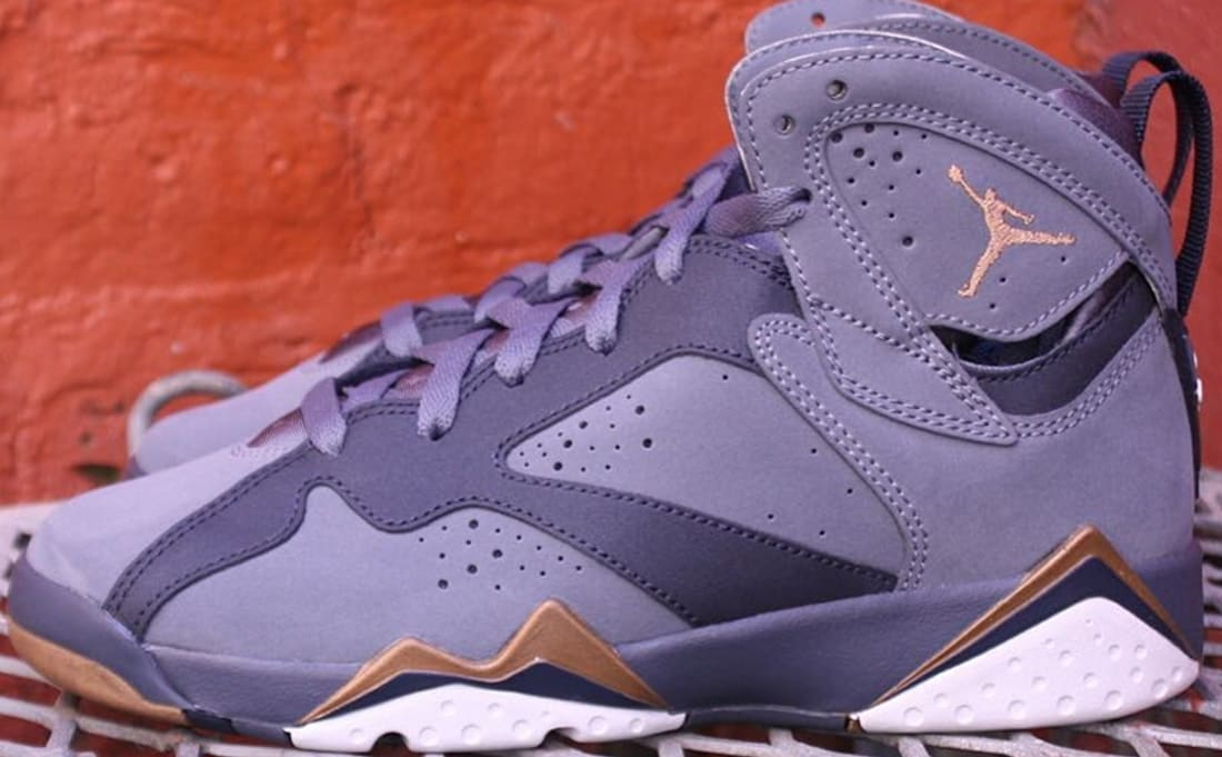 new arrival 93b37 95b54 Air Jordan 7 Retro Girls Blue Dusk Metallic Gold-Obsidian-White