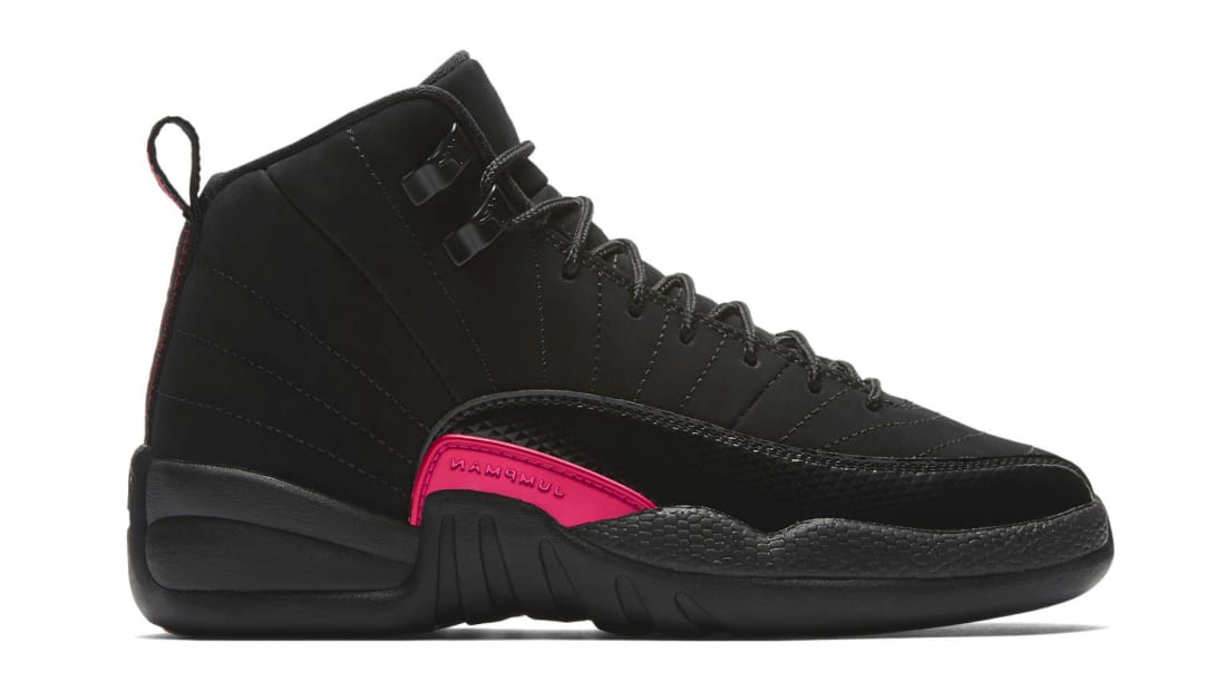 a8bd3ce5bd0 Air Jordan 12 Retro GG Black/Dark Grey-Rush Pink | Jordan | Sole ...