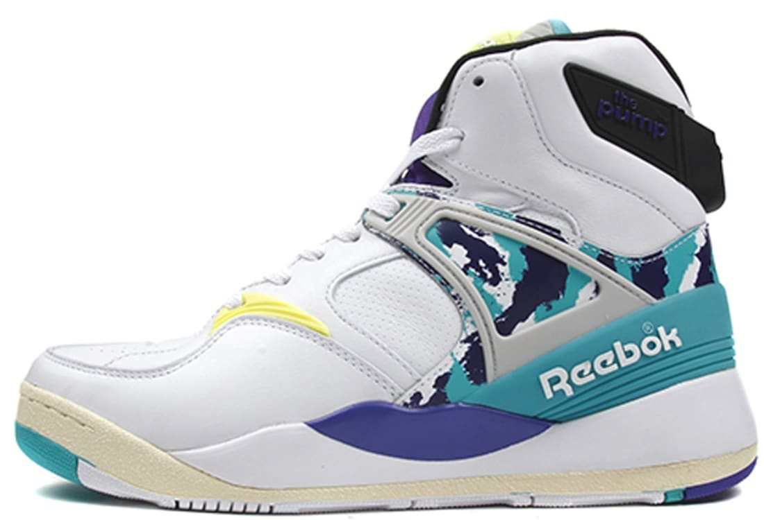 901f2f9d60df Reebok The Pump Certified White Time Teal-Team Purple