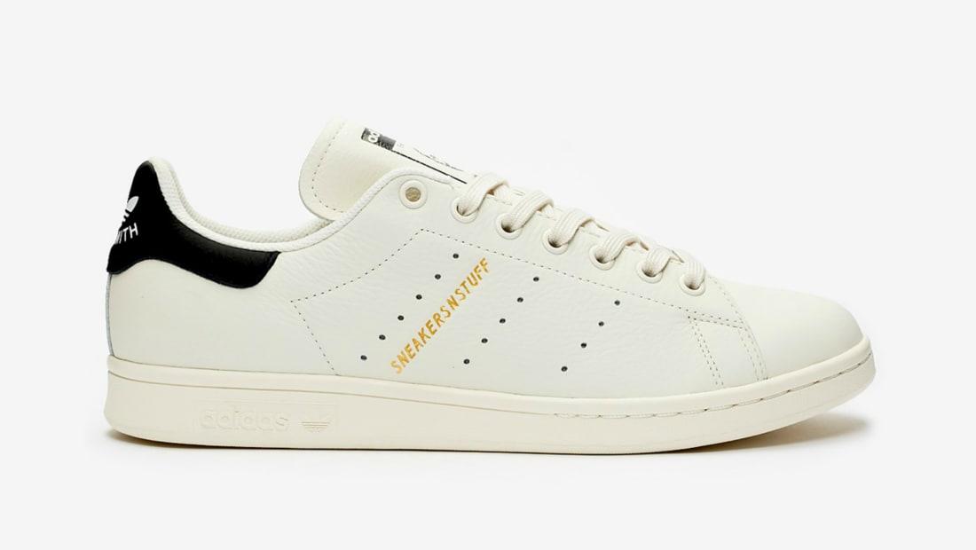 Sneakersnstuff x Adidas Stan Smith Core White/Core Black/Gold Metallic
