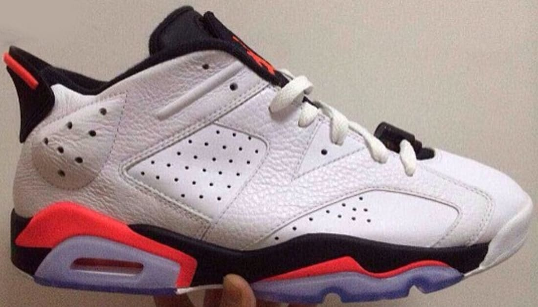 Air Jordan 6 Retro Low White/Infrared 23-Black
