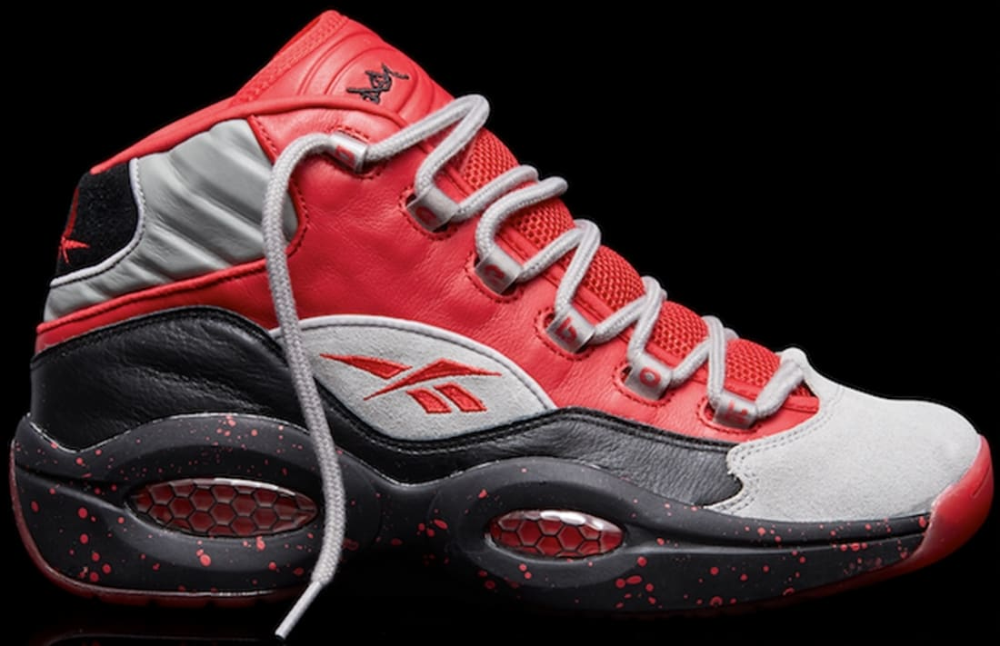 Reebok Question Mid Carbon/Excellent Red-Black