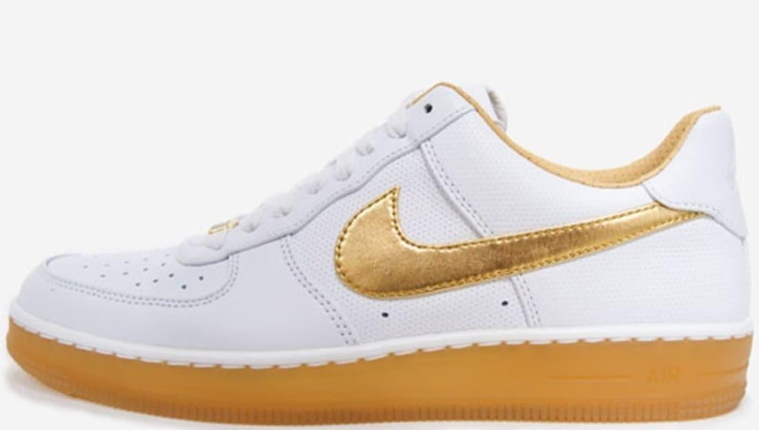 Nike Air Force 1 Downtown Low Premium White/Metallic Gold