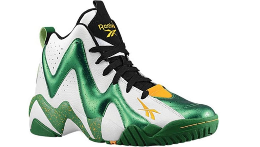 Reebok Kamikaze II Mid White Green-Yellow-Black  b41c4b621