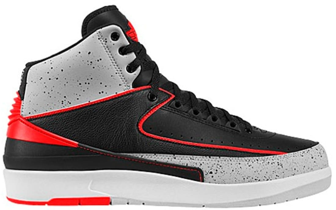 Air Jordan 2 Retro Black/Infrared 23-Pure Platinum-White