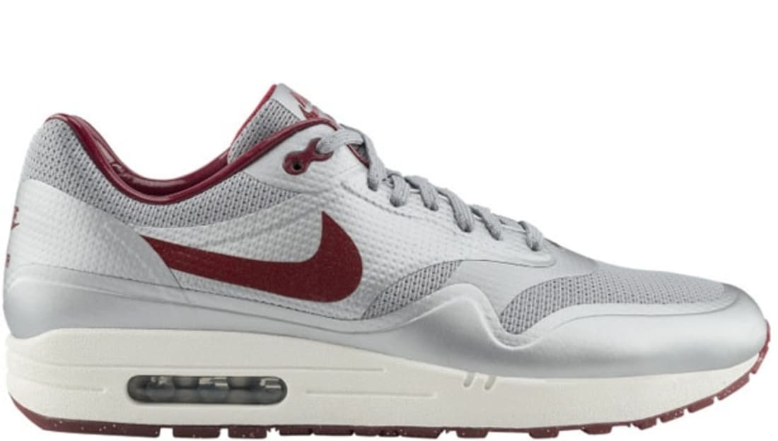 9222545bf5 Nike Air Max 1 Hyperfuse Metallic Silver/ Deep Red-Sail | Nike ...