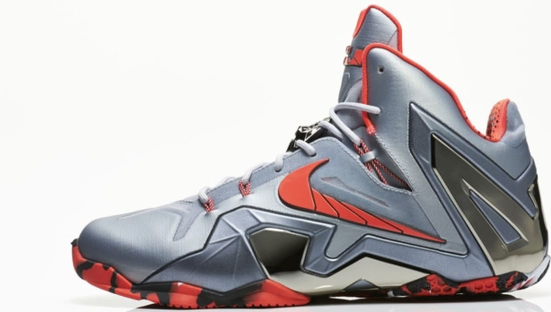 a2d9c20366141 Nike · Nike LeBron · Nike LeBron 11 (XI). Nike LeBron 11 Elite Wolf Grey Light  Crimson-Cool Grey-Black
