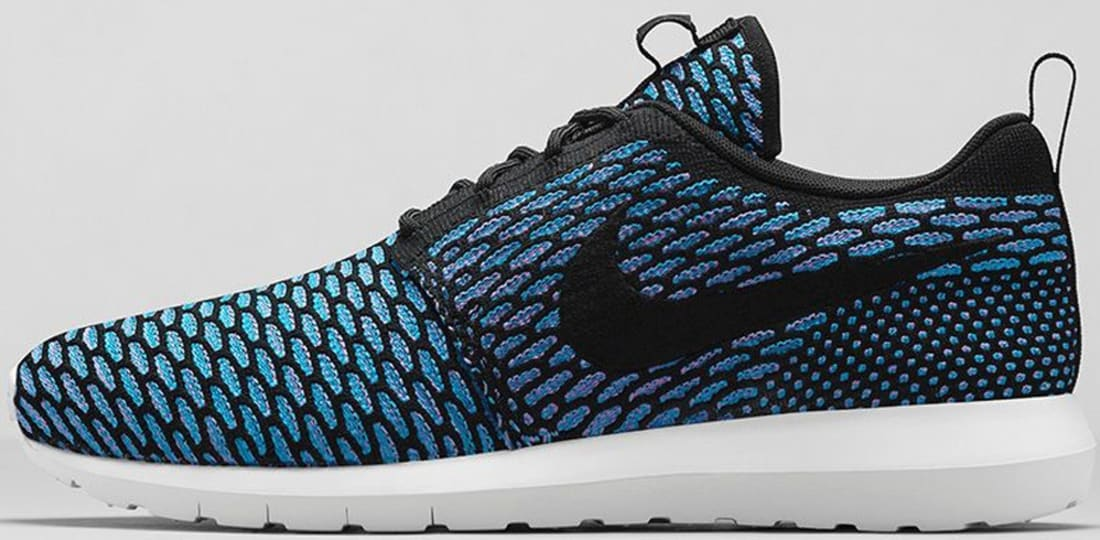 competitive price a7663 0a36c Nike Roshe Run Flyknit Black Neo Turquoise-Blue Glow-Black