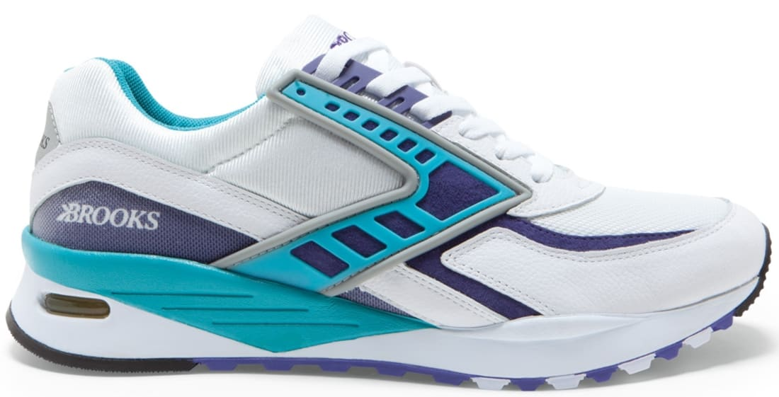 Brooks Regent White/Purple Opulance-Scuba Blue