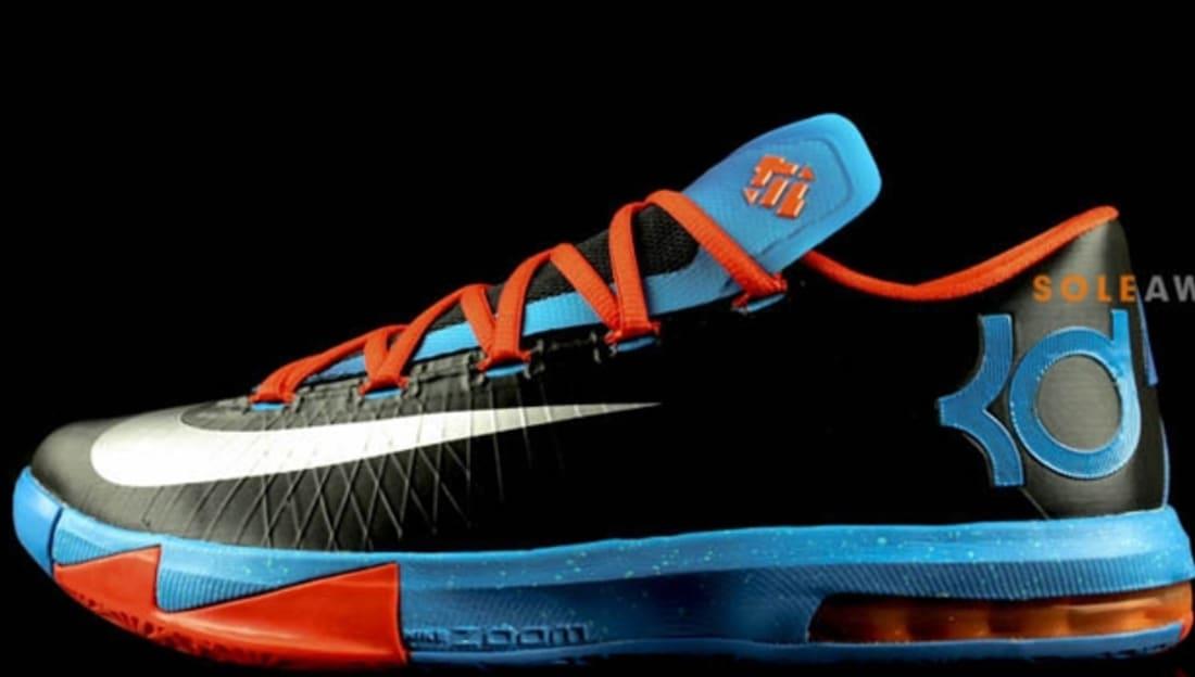 Nike KD 6 Away Black/Team Orange-Photo