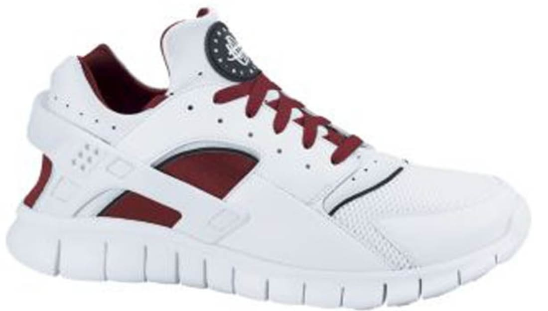 info for d5aae 86b1d Nike Huarache Free Run 2012 White White-Team Red