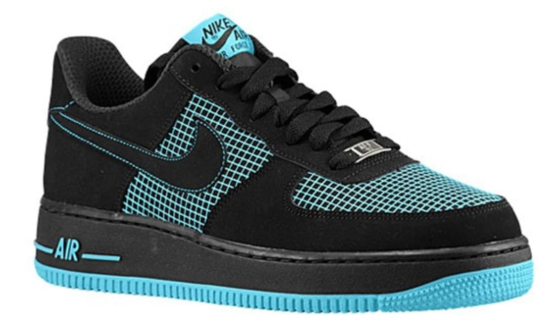 5808f01a19b9b8 Nike Air Force 1 Low Black Black-Gamma Blue