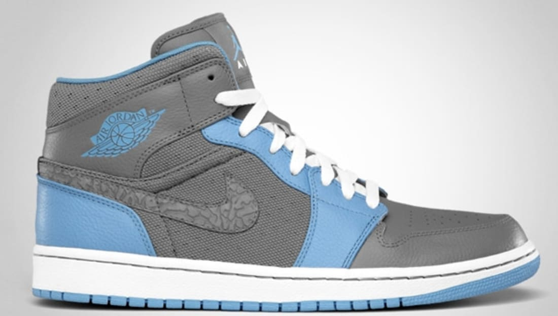 Air Jordan 1 Phat Mid Cool Grey/University Blue-White