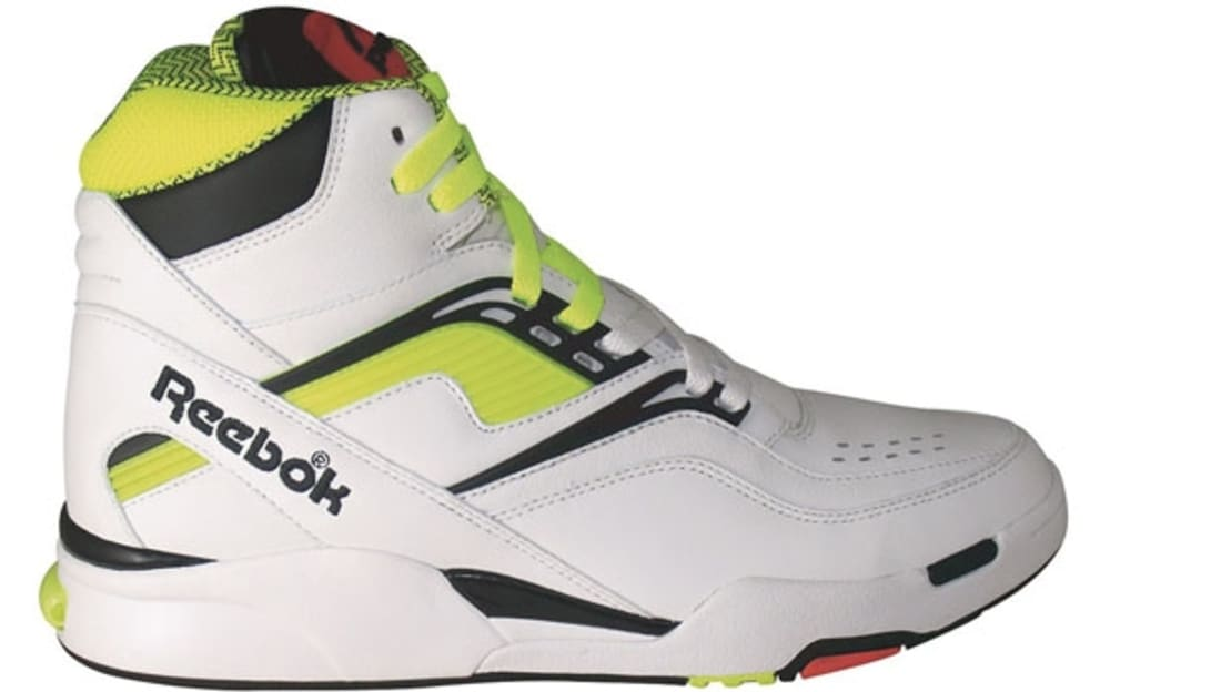Reebok Twilight Zone Pump White Neon Yellow-Black  d3566909b