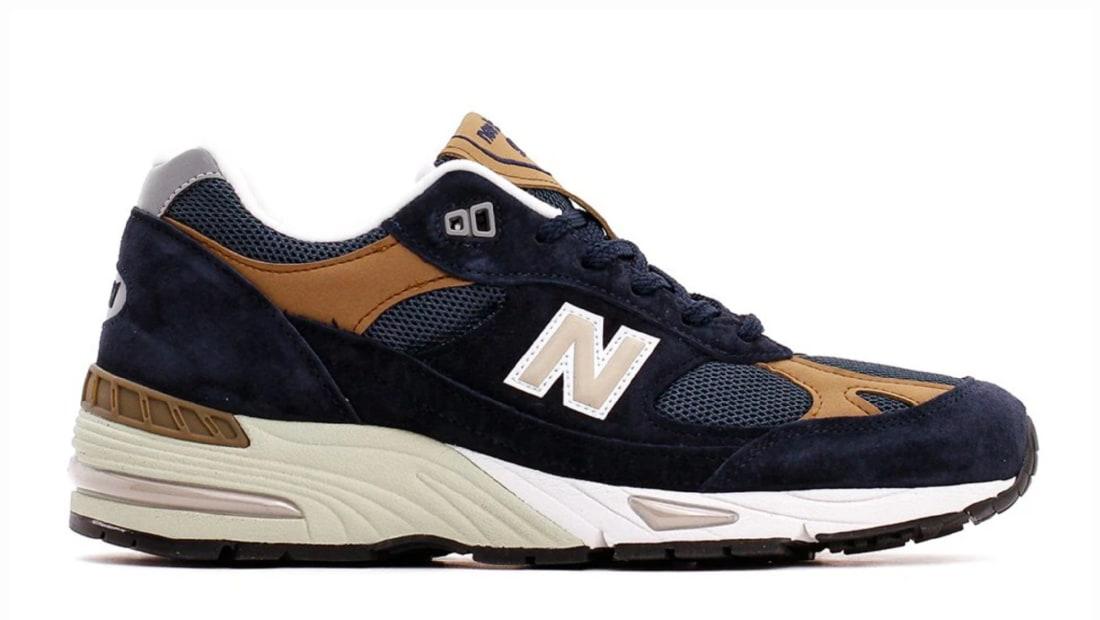 New Balance 991 Dark Navy/Light Brown