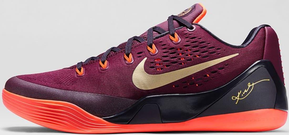 newest collection d8c45 be3ea Nike Kobe 9 EM Deep Garnet Metallic Gold-Hyper Crimson-Cave Purple