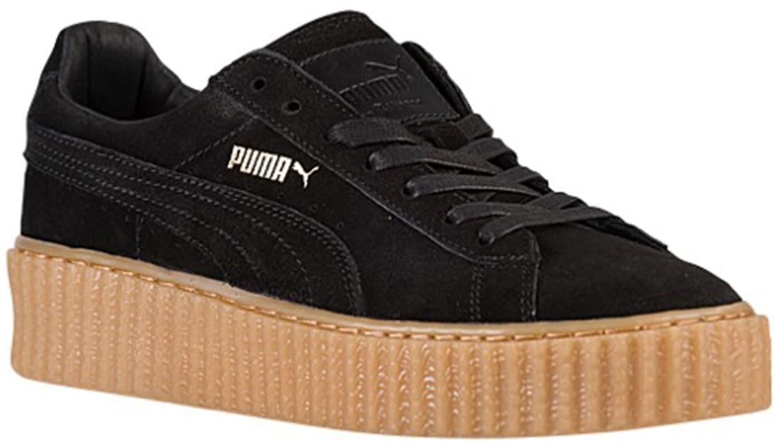best sneakers fff06 f8d03 Rihanna x Puma Suede Creepers Women's Black/Oatmeal | Puma ...