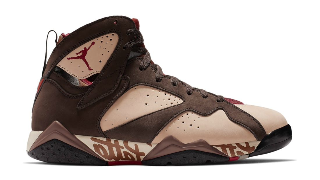 Patta x Air Jordan 7 OG SP Shimmer/Tough Red-Velvet Brown