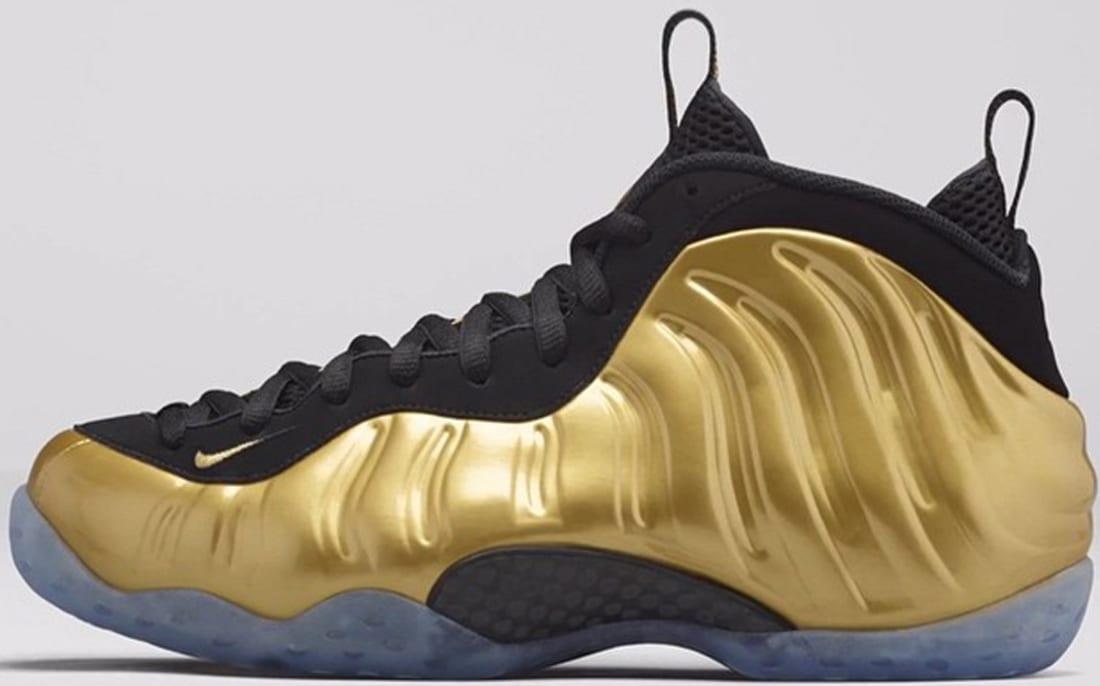 Nike Air Foamposite One Metallic Gold/Metallic Gold-Black