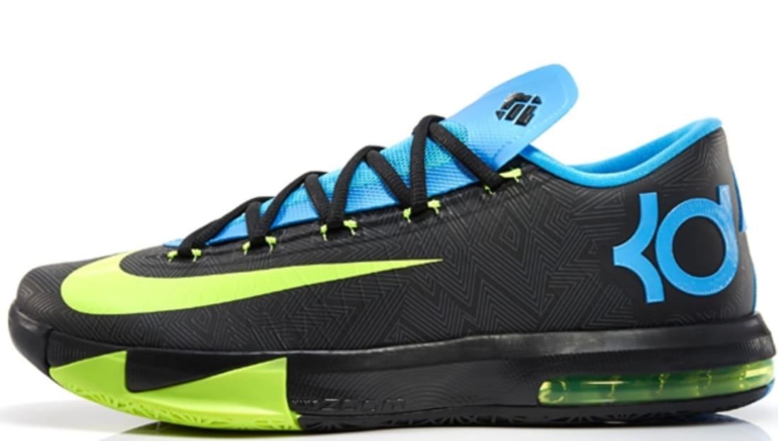 Nike KD VI Black/Volt-Vivid Blue-Dark Grey