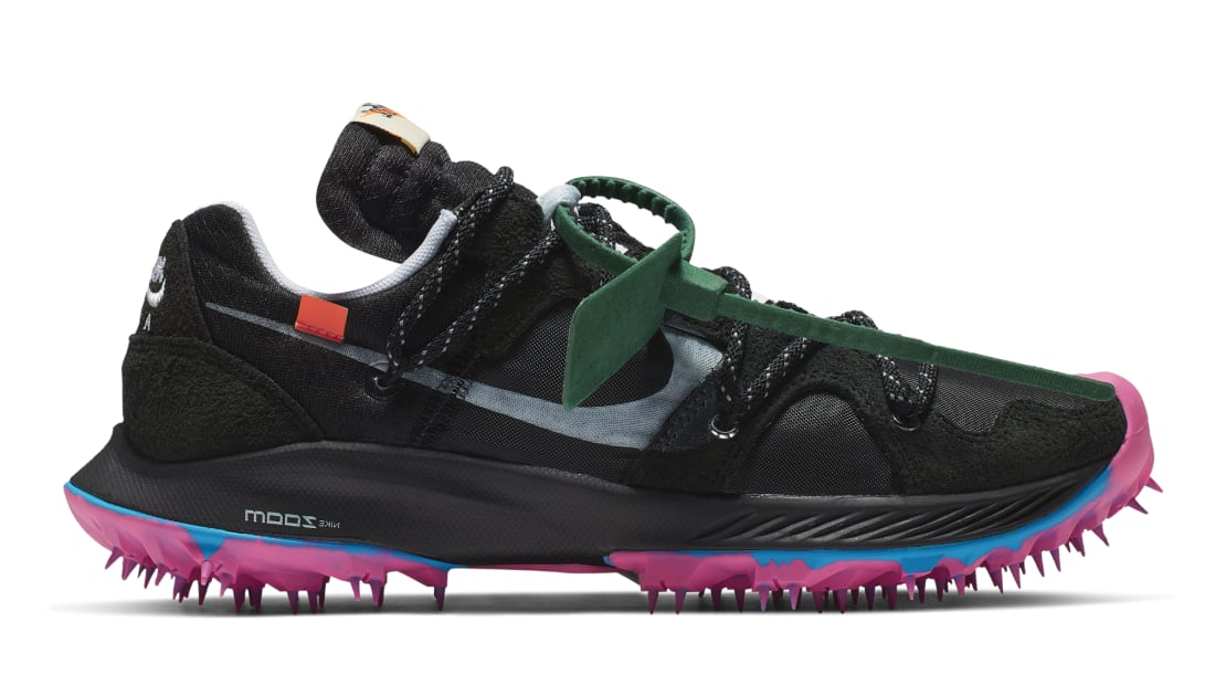 Off-White x Nike Zoom Terra Kiger 5 Black/Metallic Silver-White-Pink Blast