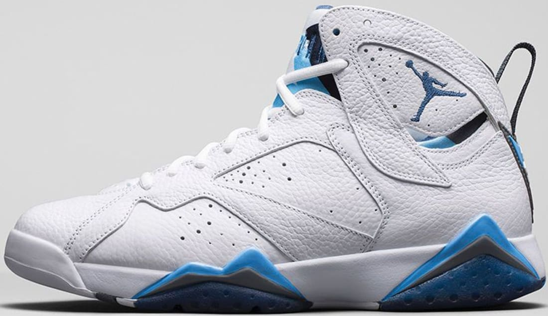 Air Jordan 7 Retro White/French Blue-University Blue-Flint Grey