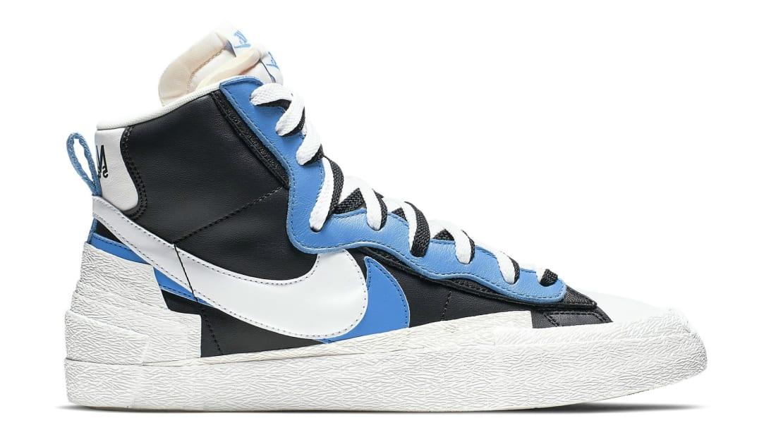 Sacai x Nike Blazer Mid Black/University Blue-Sail-White