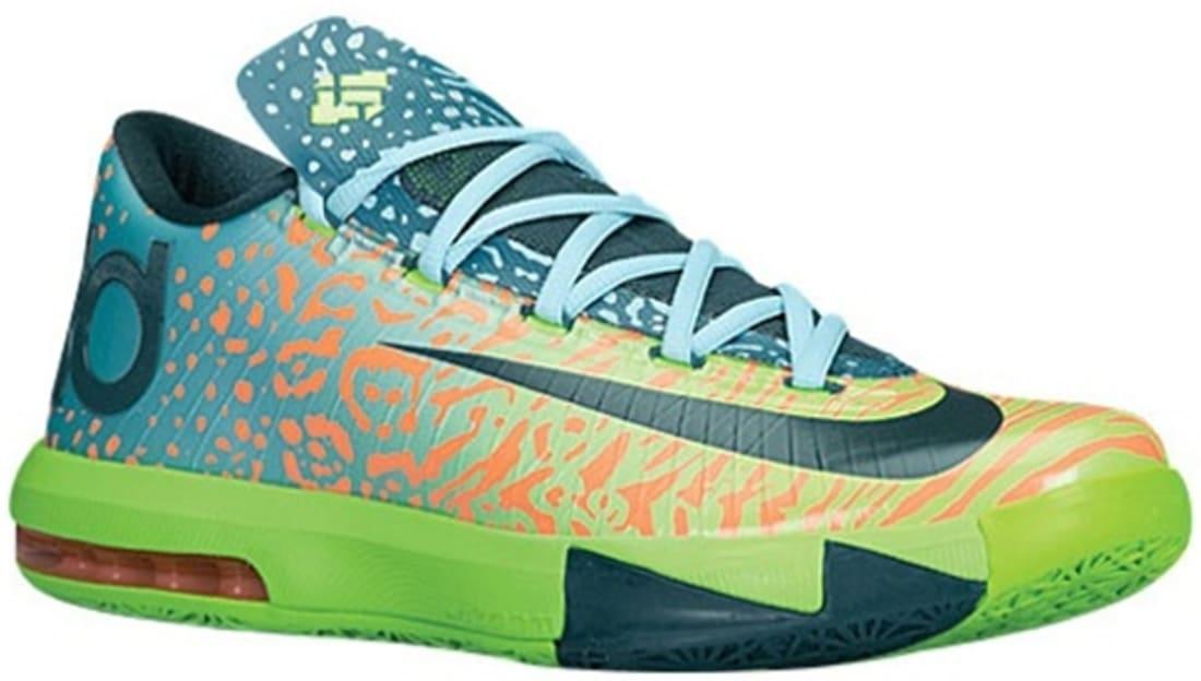 Nike · Nike KD · Nike KD 6 (VI). Nike KD VI Electric Green Night Factor-Atomic  Orange 62368629a199