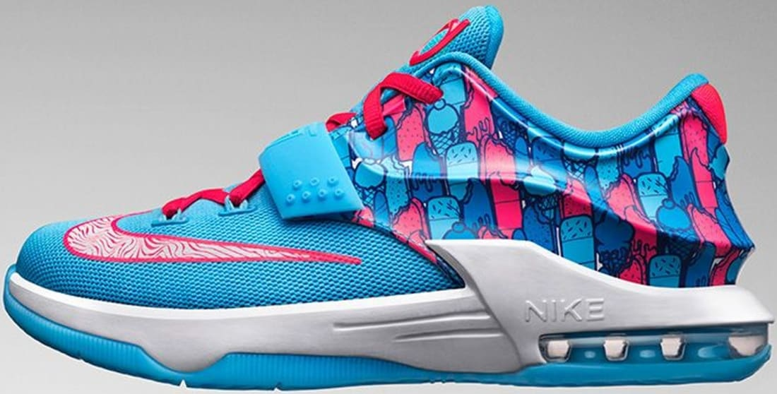 Nike KD VII GS Clearwater/Blue Lagoon-White-Bright Crimson