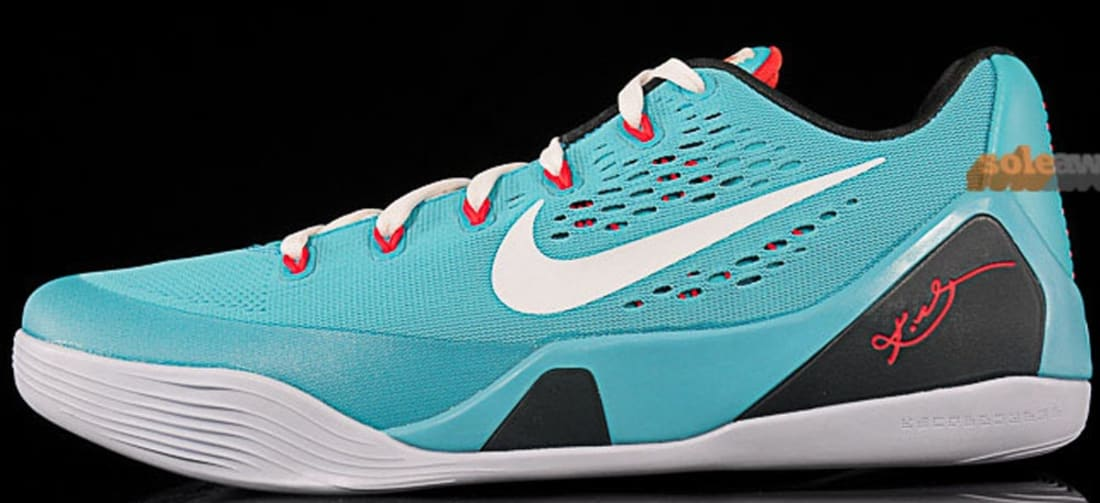 Nike · Nike Kobe · Nike Kobe 9 (IX). Nike Kobe 9 EM Dusty Cactus White-Action  Red-Gym Blue 95bfdc87229d