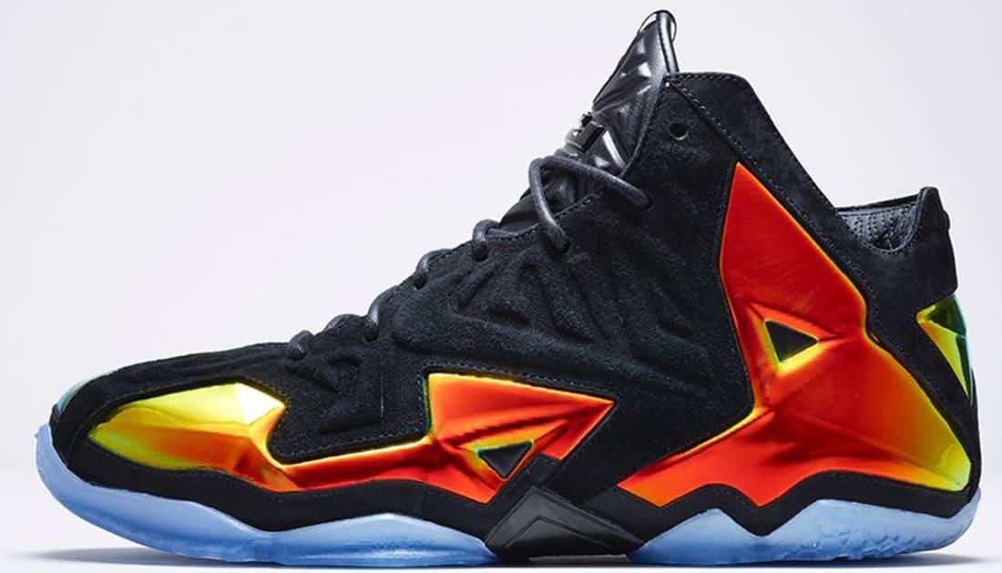 41a70ecae61 Nike LeBron 11 EXT Suede QS Black Black-Metallic Gold