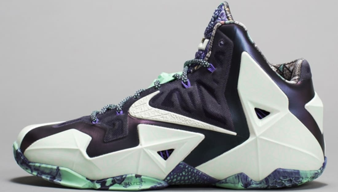 huge discount 53c95 403fb Nike · Nike LeBron · Nike LeBron 11 (XI). Nike LeBron 11 AS Cashmere Green  Glow-Purple Dynasty