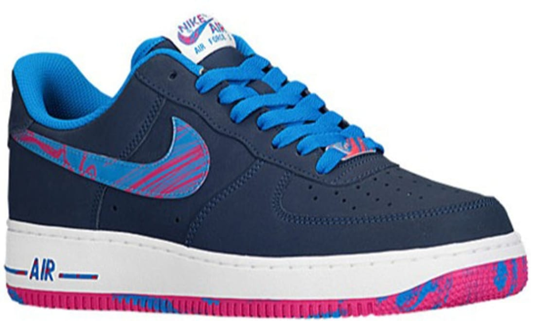 Nike Air Force 1 Low Midnight Navy Light Photo Blue Vivid