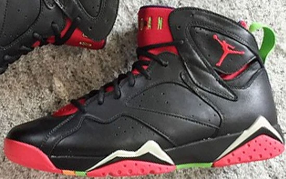 best loved f9a13 4a3c1 Air Jordan 7 Retro Black University Red-Green Pulse-Cool Grey