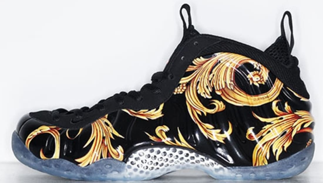 Nike Air Foamposite One Supreme SP Black/Black-Metallic Gold