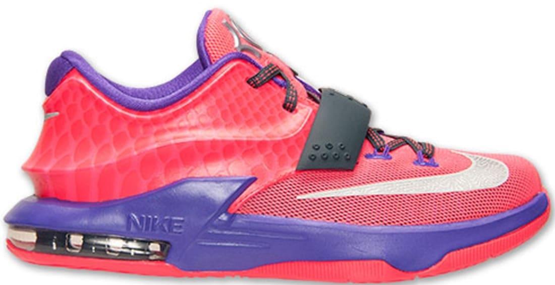 Nike KD VII GS Hyper Punch/Metallic Silver-Hyper Grape