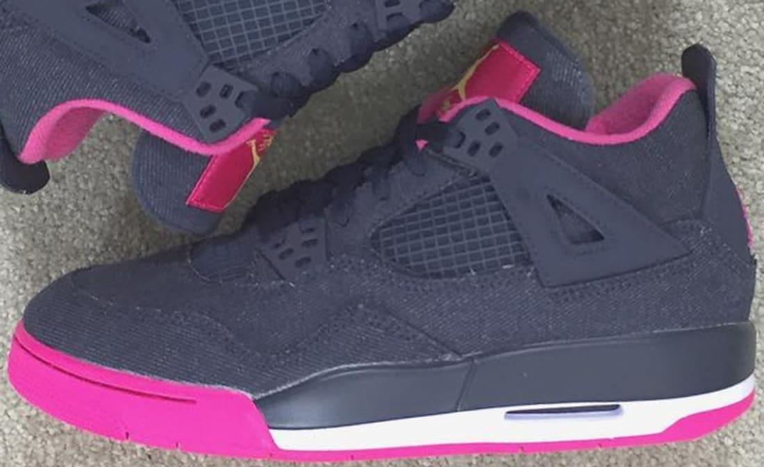 Girls Air Jordan 4 Retro Denim