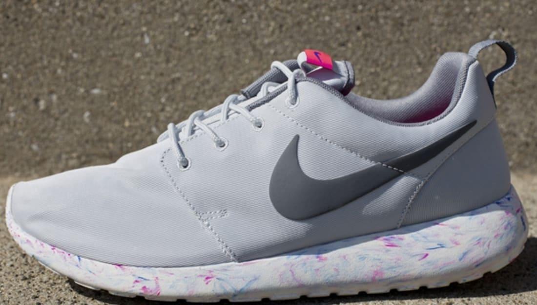 Nike Roshe Run QS Pure Platinum/Cool Grey-Mega Blue-Summit White