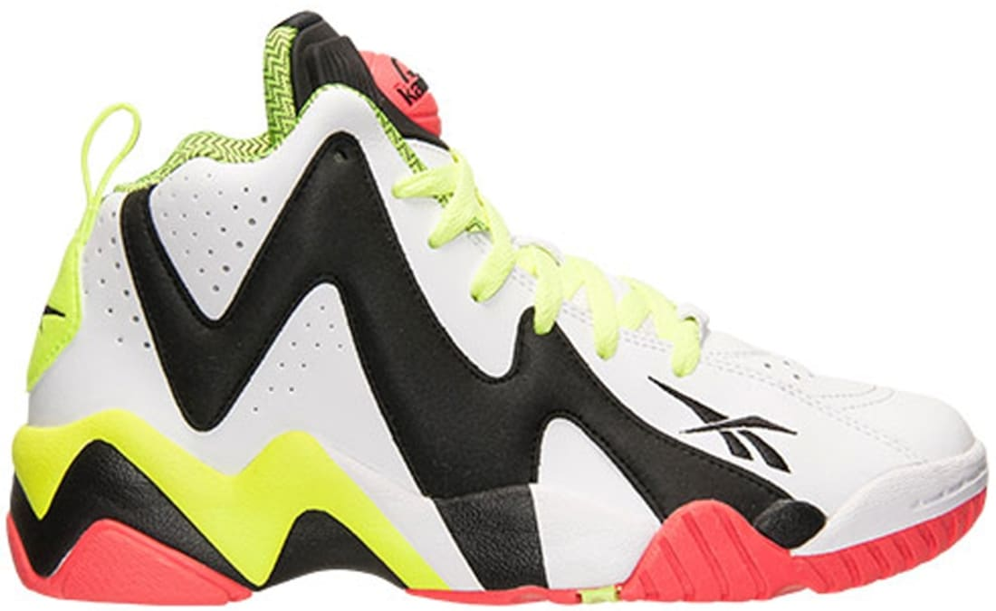 Reebok Pump Kamikaze II Mid White Black-Flux Orange  d4c837be1