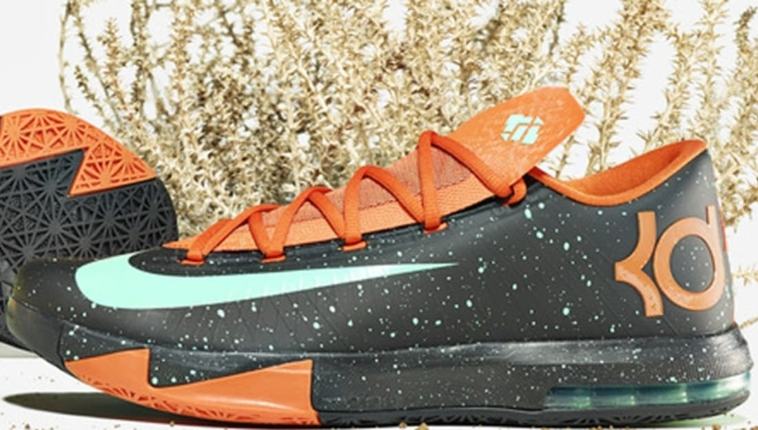 Nike KD 6 Texas Black/Green Glow-Urban Orange